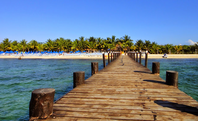 Cozumel beach dock
