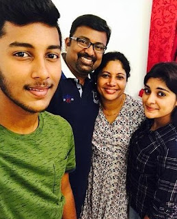 Niveda Thomas Family Husband Parents children's Marriage Photos