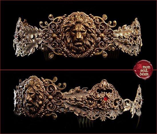couronne lion bronze lannister cersei medieval crown circlet leo