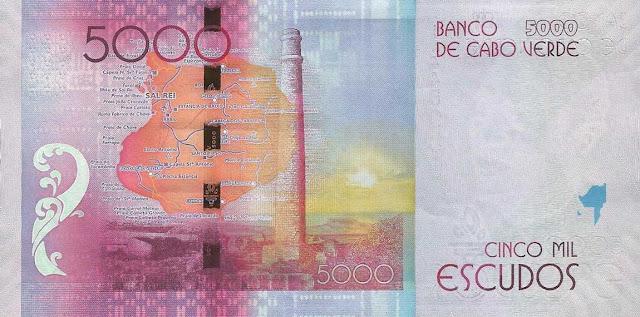 Cape Verde 5000 Escudos banknote 2014 Boa Vista