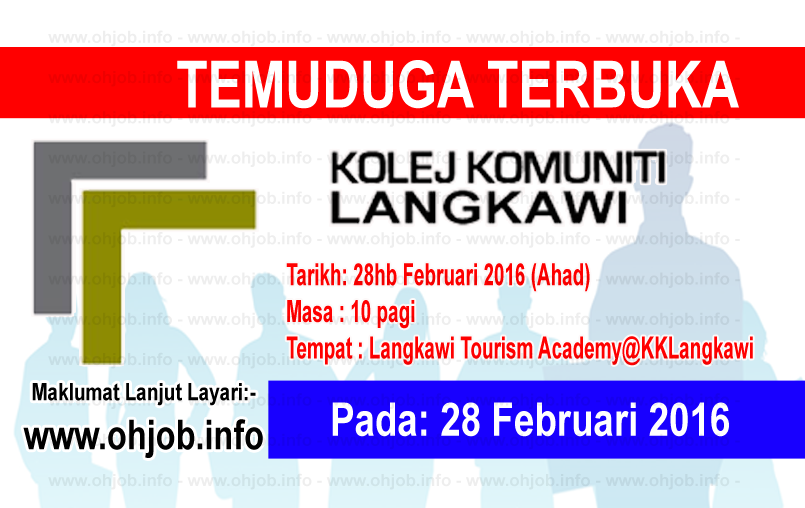 Jawatan Kerja Kosong Kolej Komuniti Langkawi logo www.ohjob.info februari 2016