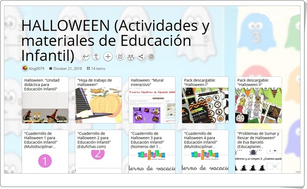 """""""14 Actividades y materiales para celebrar HALLOWEEN en Educación Infantil"""""""