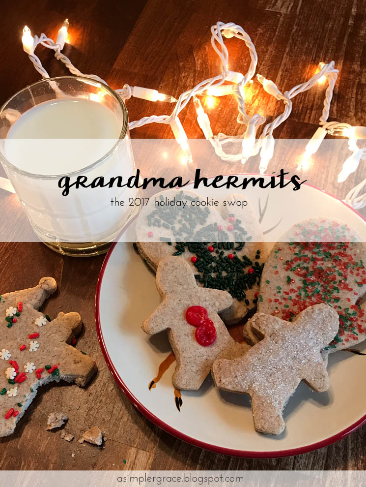 Grandma Hermits Recipe | The 2017 Holiday Cookie Swap #cookies #recipe #holidays #christmas