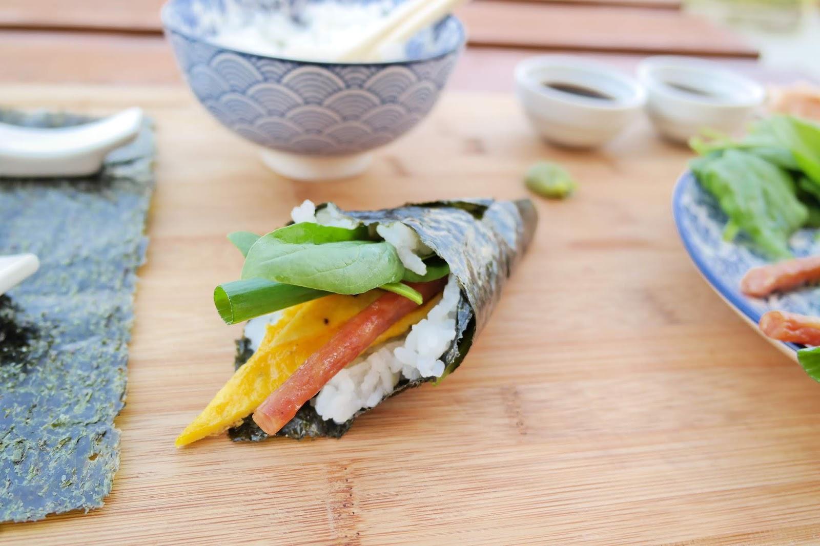 rożki z sushi