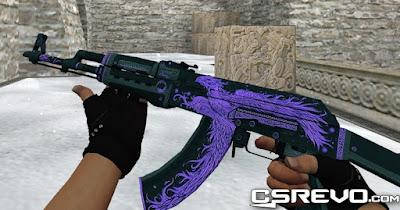 Skin AK 47 - Phoenix Rise Purple - HD CS 1.6, ak47, cs go skins