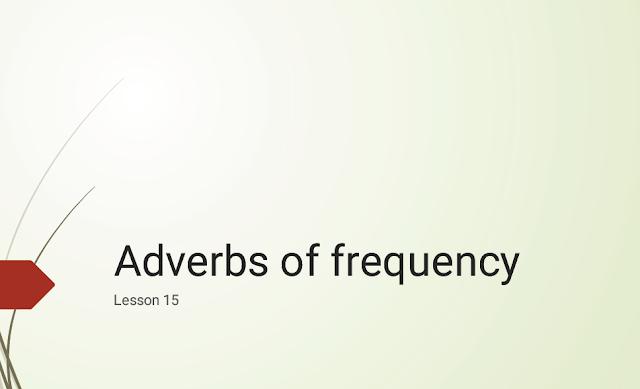 درس Adverbs of frequency
