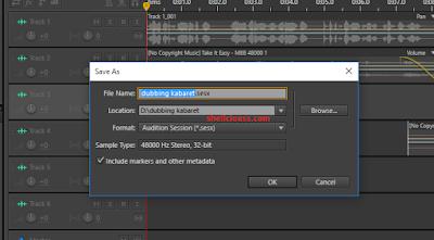 Cara Save Hasil Rekaman Suara Pada Adobe Audition Menjadi Format MP3