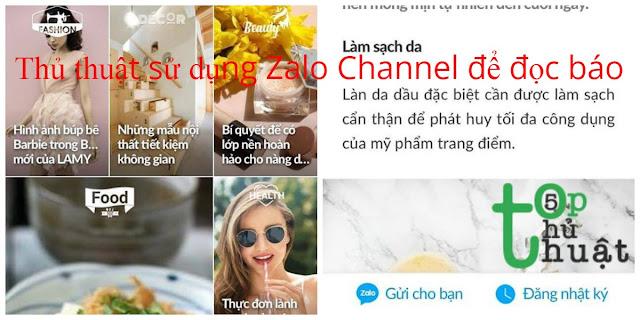 Thủ thuật sử dụng Zalo Channel để đọc báo
