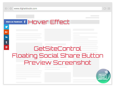 Get site control floating share bar preview