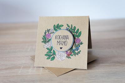 Kartka na Dzień Matki – wieniec kwiatowy