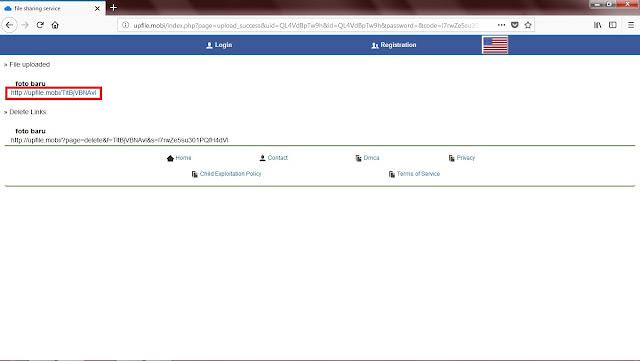 Setelah file terupload, Sobat bisa langsung mencobanya dengan membuka link URL file tersebut. Dan bagi Sobat yang ingin membagikan Linknya, Sobat bisa mengkopi Link tersebut.
