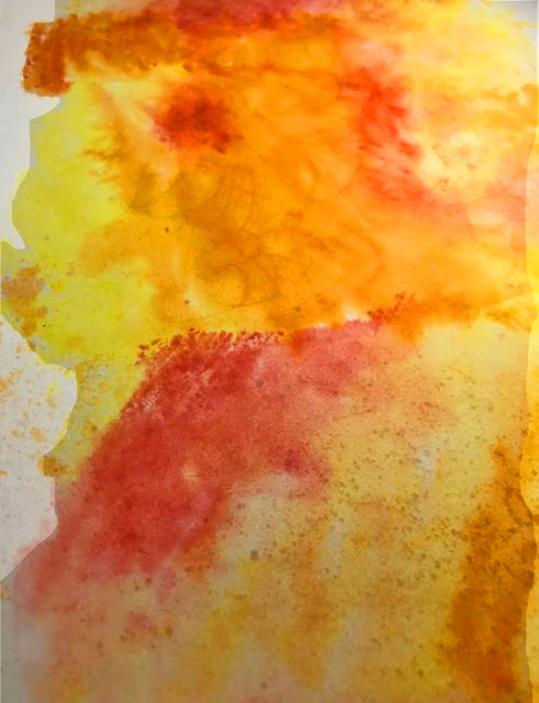 diffusion watercolor art project for kids