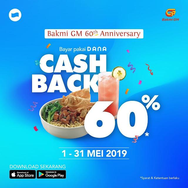 #Dana - #Promo Cashback Hingga 60% di BakmiGM (s.d 31 Mei 2019)