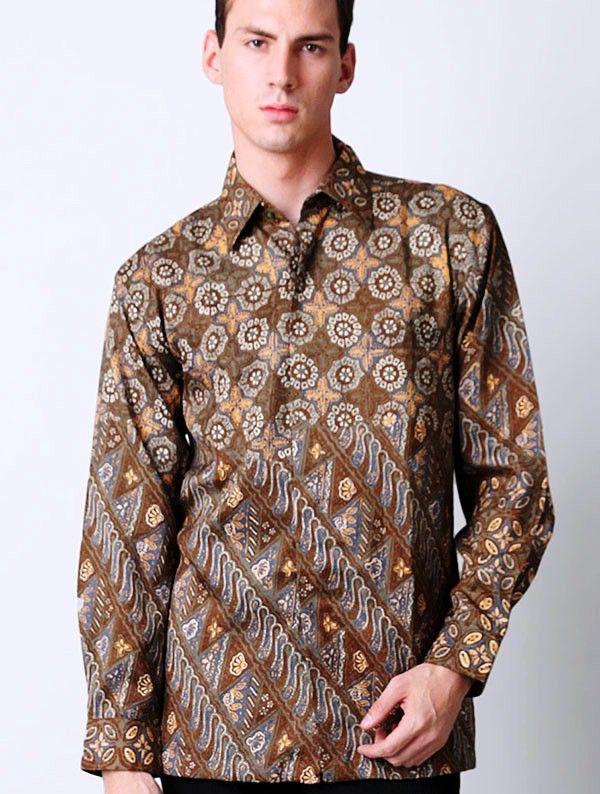 Contoh Motif Baju Batik Pekalongan Modern Model Terbaru. Baju Batik  Pekalongan Untuk Pria Lengan Panjang 6018d5e1d8