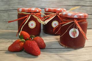 Receta de mermelada de fresa.