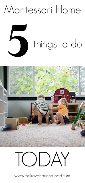 5 easy things to do today to create a Montessori home. Simple changes to give your children independence!