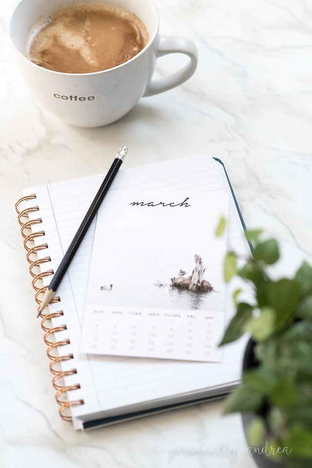 Welcome March | Printable Photo Calendar Card