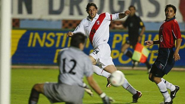 Perú y Chile en partido amistoso, 2 de abril de 2003