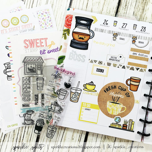 Sweet Stamp Shop Blog Post - Coffee Themed Planner Layout