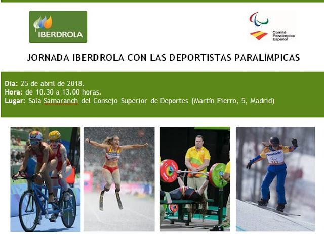 Jornada Iberdrola con las deportistas paralímpicas