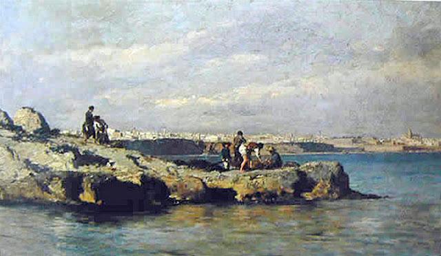 Antonio Ribas Oliver, Bahía de Palma, Mallorca en pintura, Paisajes de Bahía de Palma, Paisajes de Mallorca, Mallorca Pintada