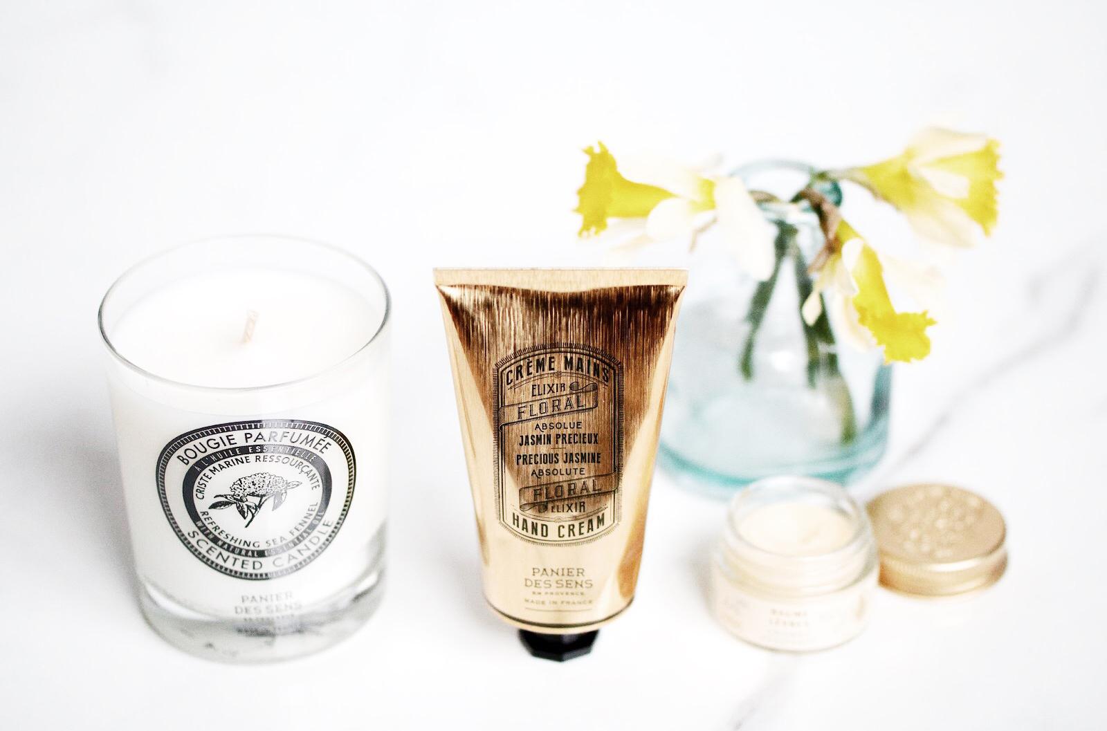 panier des sens soins corps crème mains bougie baume lèvres amande avis test