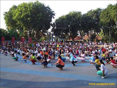 Area Senam di Taman Bungkul Surabaya