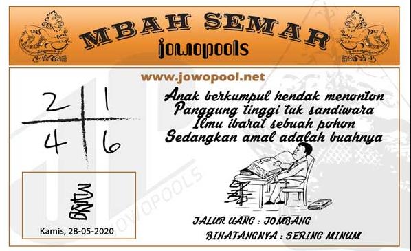 Syair Mbah Semar selasa 02-06-2020