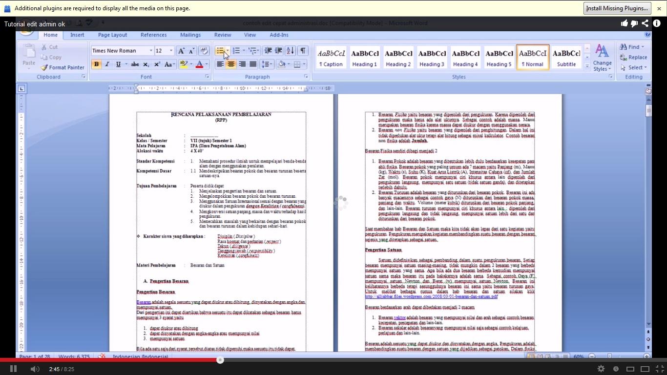 Perangkat Pembelajaran Mts Download Contoh Format Administrasi Perangkat Pembelajaran Terupdate