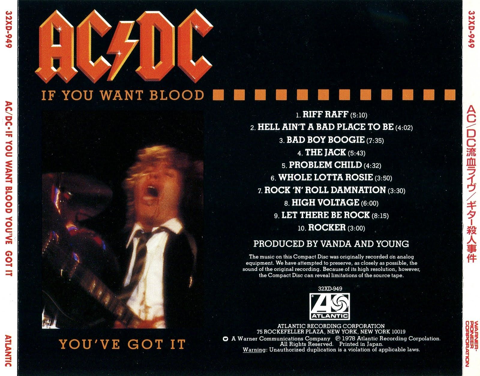 My Music Collection: ACDC - If You Want Blood You've Got It