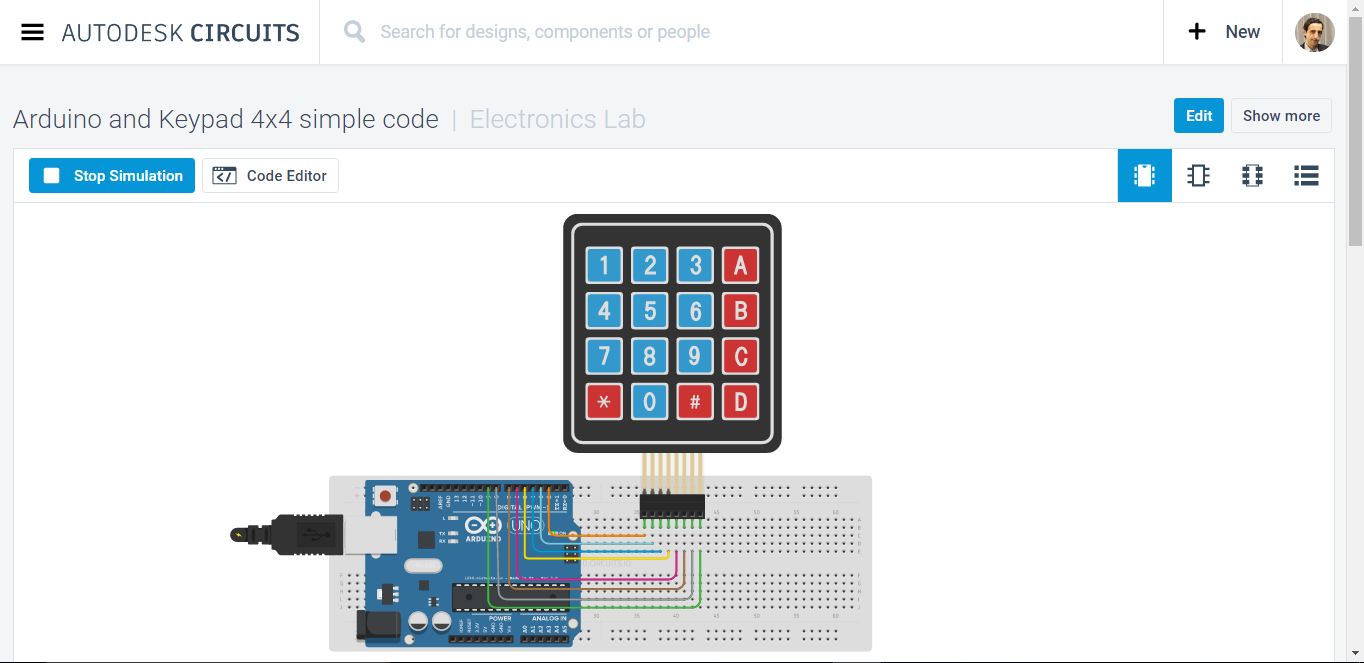Arduino and Keypad 4x4 simple code - M B Raw