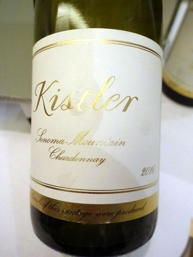 Kistler Sonoma Mountain Chardonnay 2016 (93 pts)