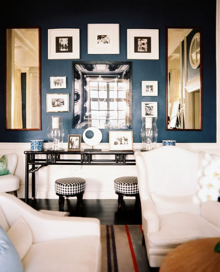 Dining Out In Your New Navy Blue Dining Room: Lisa Mende Design: Best Navy Blue Paint Colors