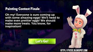 fv2ce, quest text, blue background, rabbit costume figure
