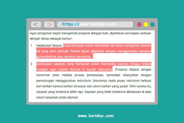 Cara Mengganti Warna Teks Ketika di Seleksi di Blog