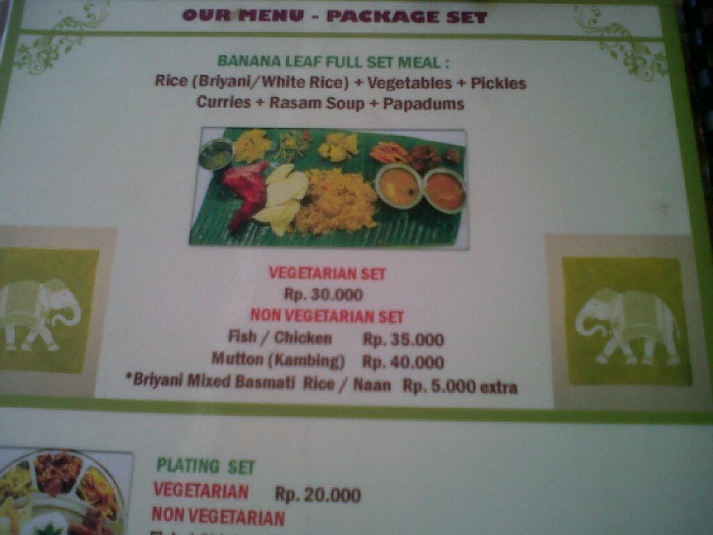 curry house menu