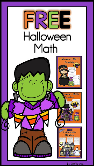 Free Halloween math for second grade