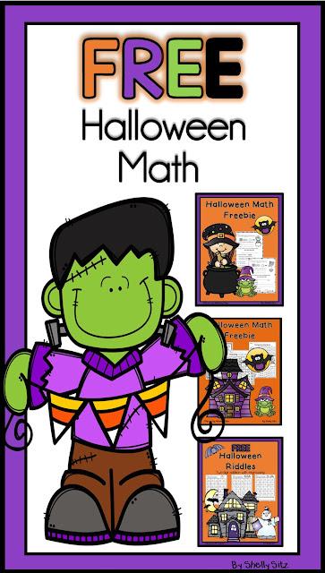 Free Halloween math for second grade