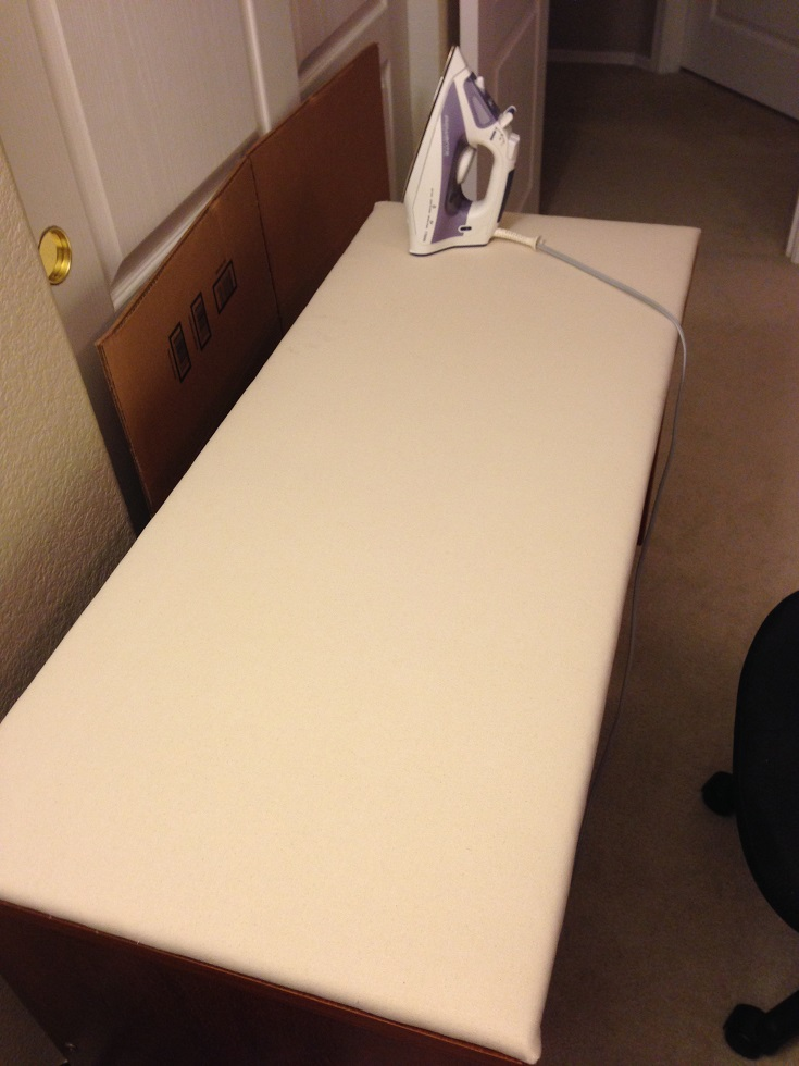 how to close my ironing board