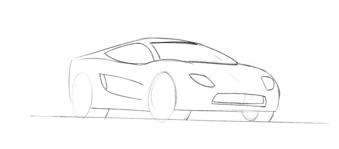 V8 Engine Line Drawing, V8, Free Engine Image For User