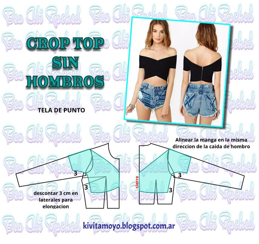 CROP TOP SIN HOMBROS
