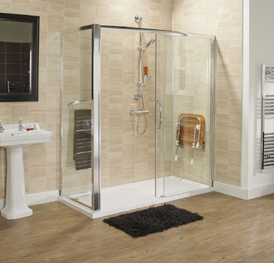 Bathing solutions walk in shower