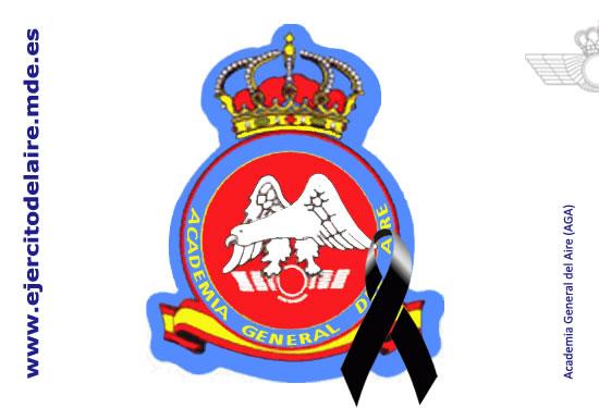 Escudo de la Academia General del Aire lazo negro