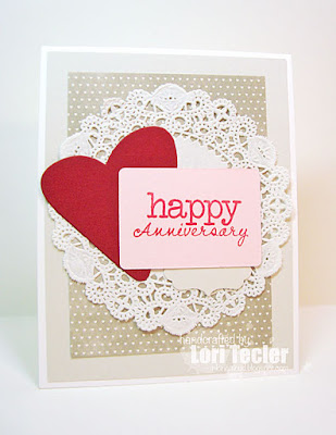 Happy Anniversary card-designed by Lori Tecler/Inking Aloud-stamps and dies from Verve Stamps