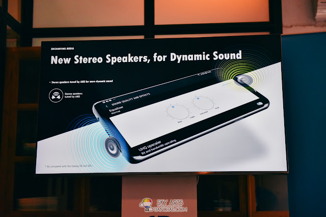 When you are not answering phone, the new Stereo Speakers on Galaxy S9/S9+ will give you better audio experience