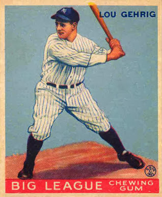 Bleeding Yankee Blue Hey Thats The Wrong Lou Gehrig Card
