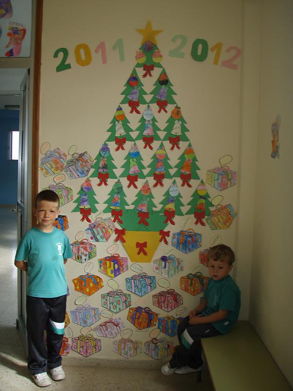 Ya huele a navidad en el comedor del colegio ceip el goro for Puertas decoradas navidad colegio