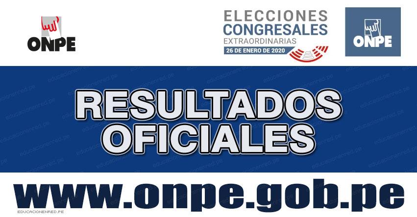 FLASH ELECTORAL: Resultados Elecciones Congresales 2020 - Lista de Nuevos Congresistas (Domingo 26 Enero) ONPE EN VIVO - www.onpe.gob.pe