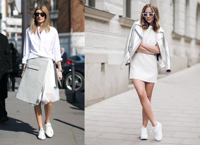 Mùa hạ cần có sneaker trắng bên cạnh cho bạn nữ thêm xin3h