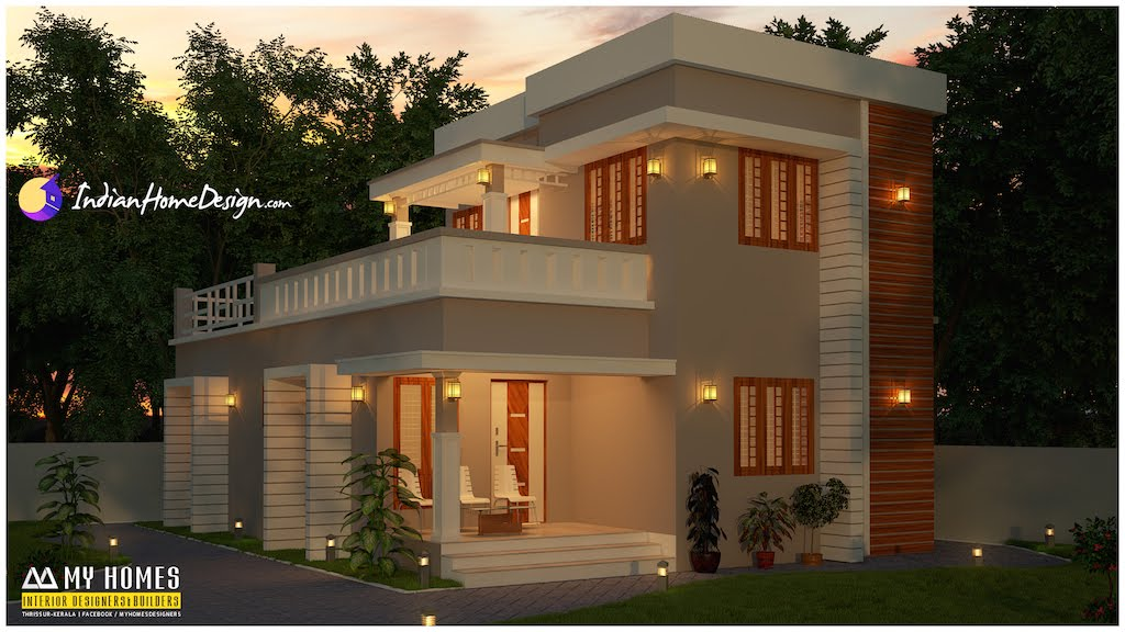 1400 sqft attractive 3 bhk budget home design by my homes for My home builders